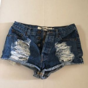 brandy melville ripped denim shorts